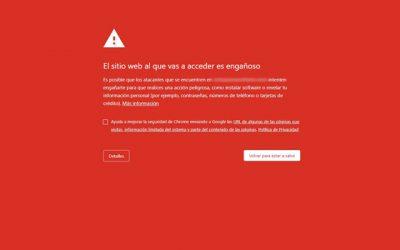 Eliminar aviso de sitio peligroso en nuestra web